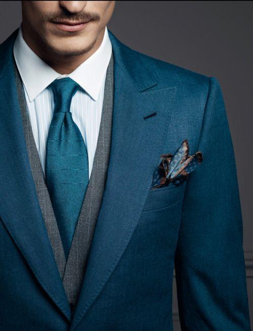 Мужской платок в карман костюма