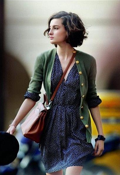 платье в горошек с чем носить 19