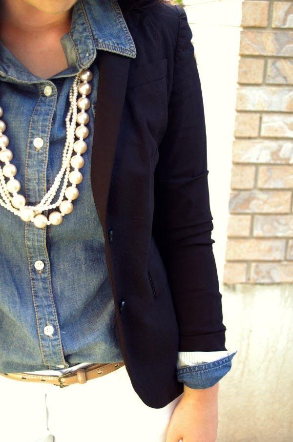 с чем носить джинсовую рубашку 08