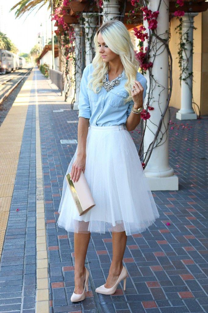 Белые пышные юбки фото