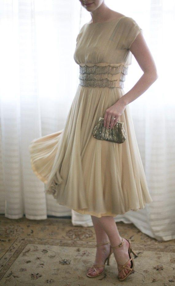 с чем носить шифоновое платье 10