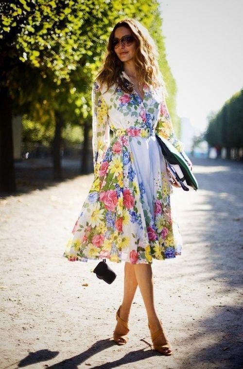 с чем носить шифоновое платье 14