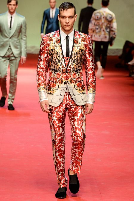 Dolce Gabbana  Spring 2015 Menswear Collection Found on style.com