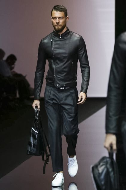 Emporio Armani Menswear Spring Summer 2015 Found on nowfashion.com