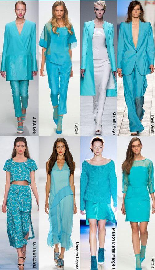 мода весна лето 2015 аквамарин 2