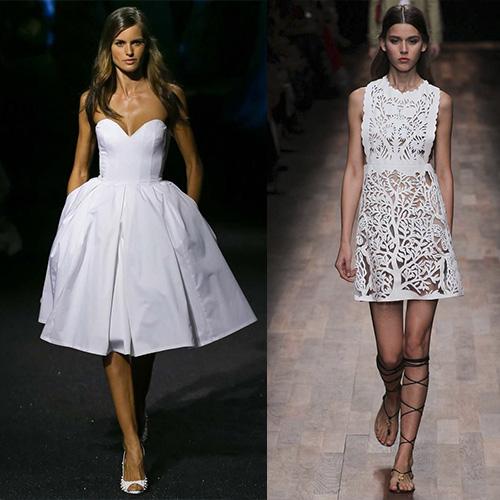 мода весна лето 2015  белые платья 1
