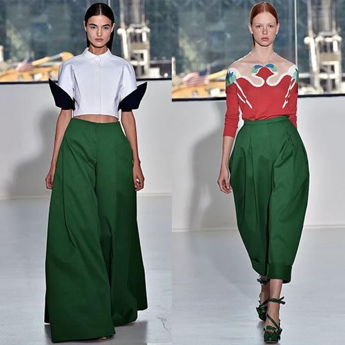 мода весна лето 2015 зеленая листва 1