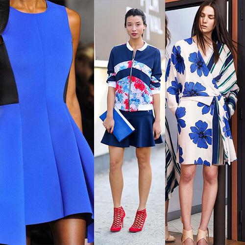 мода весна лето 2015 классический синий 2