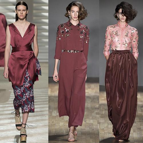 мода весна лето 2015 марсала 1