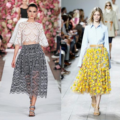 мода весна лето 2015  прозрачные юбки 3