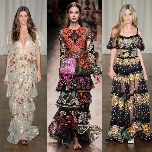 мода весна лето 2015  цыганский стиль 1