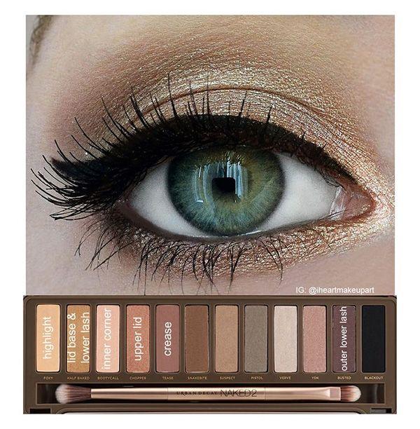 макияж для зеленых глаз 01