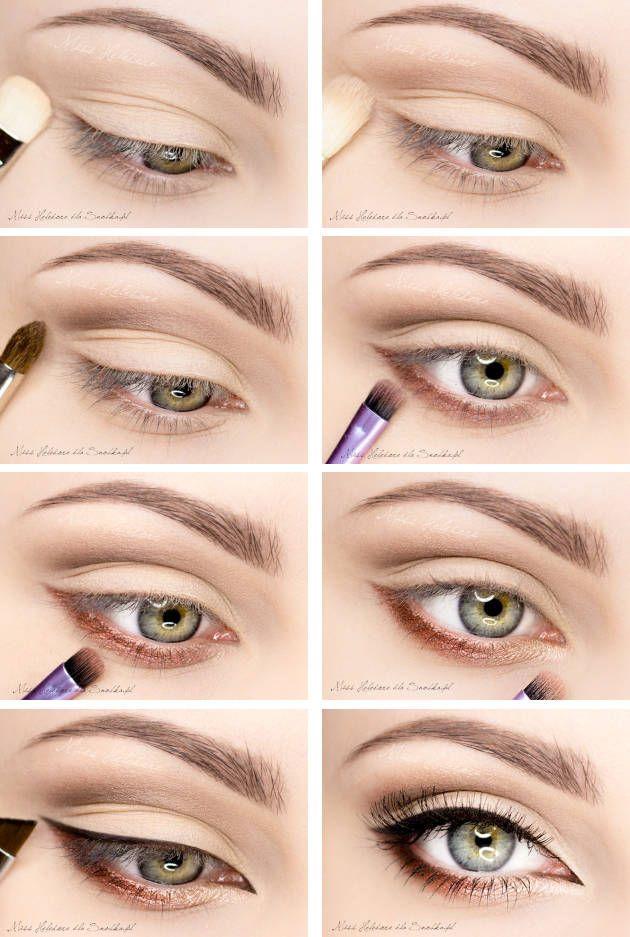 макияж для зеленых глаз 06