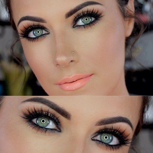 макияж для зеленых глаз 10