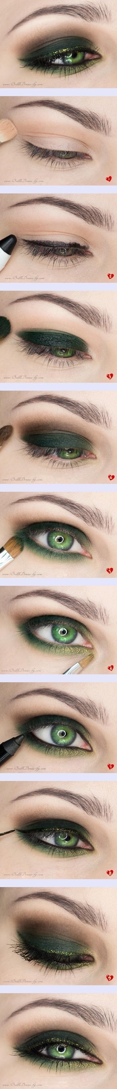 макияж для зеленых глаз 13