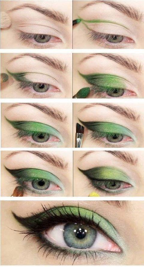 макияж для зеленых глаз 14