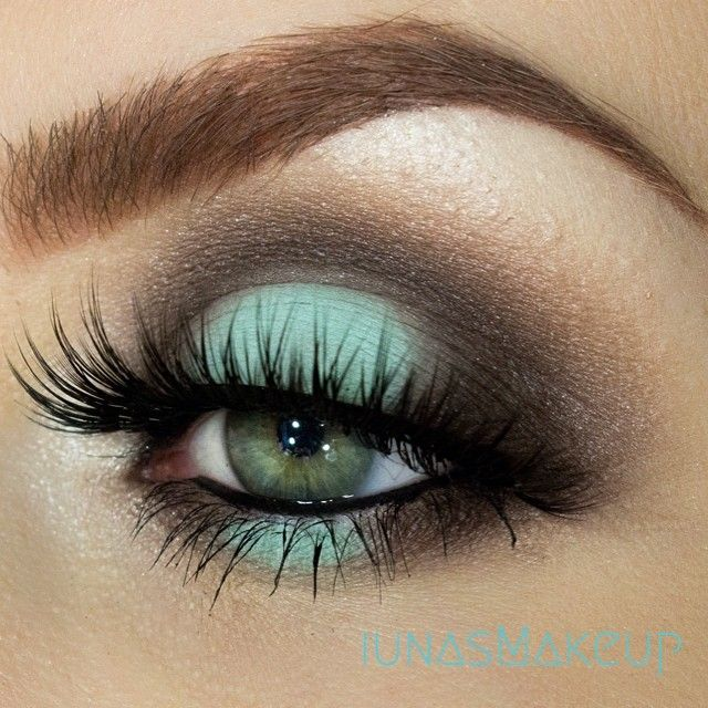 макияж для зеленых глаз 16
