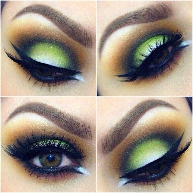 макияж для зеленых глаз 19