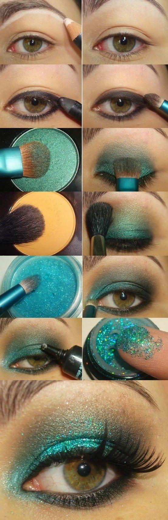 макияж для зеленых глаз 29