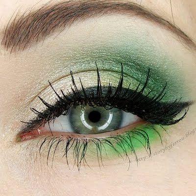 макияж для зеленых глаз 30