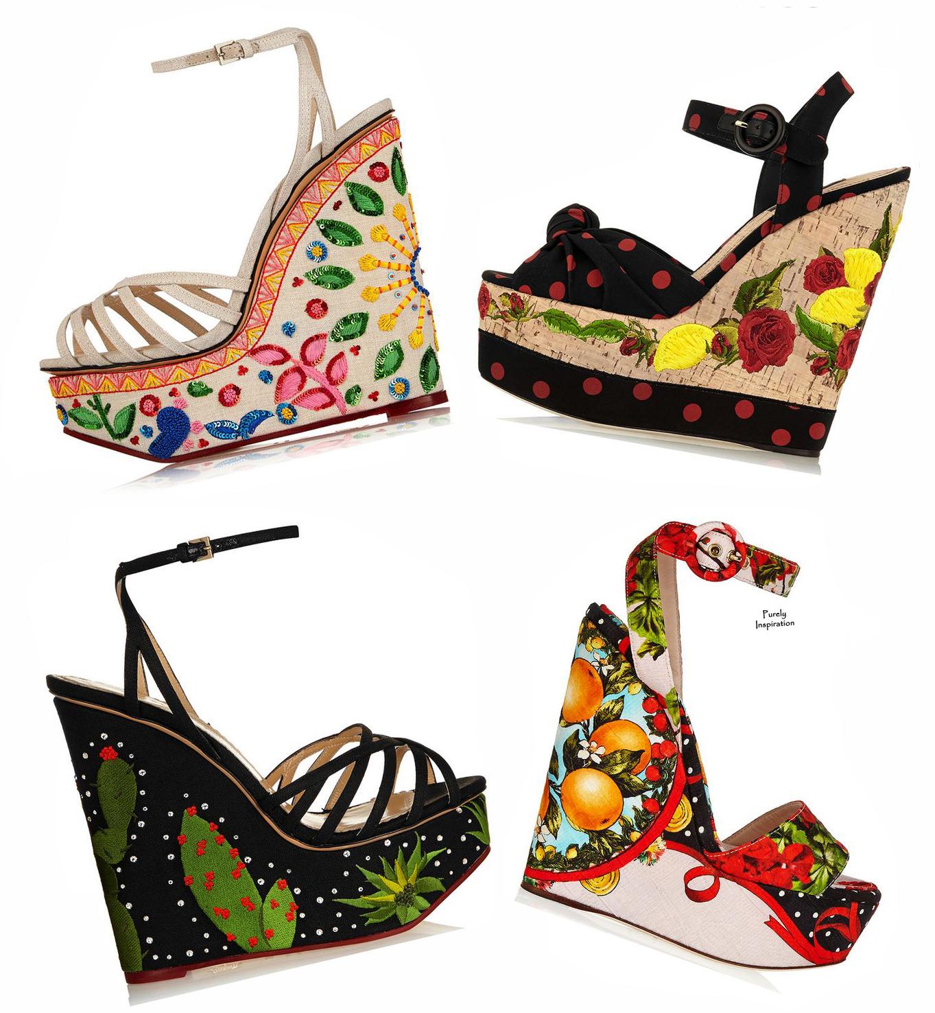 Charlotte Olympia, Dolce & Gabbana SS2015 Found on net-a-porter.com