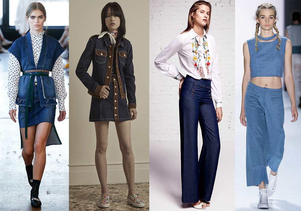 мода 2016 весна джинса