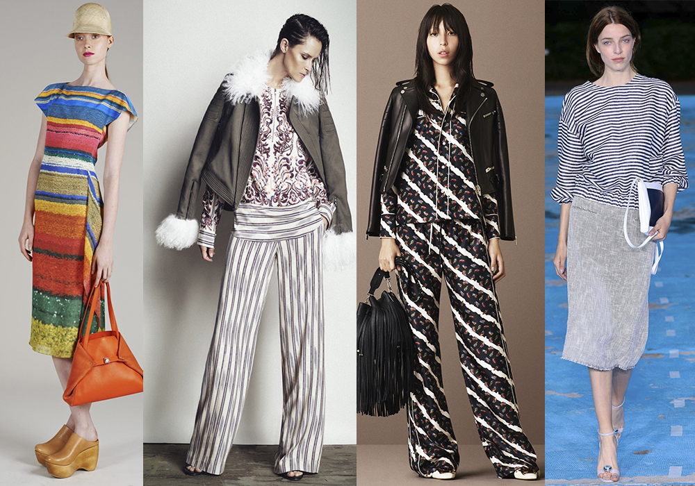 полосатый принт мода 2016