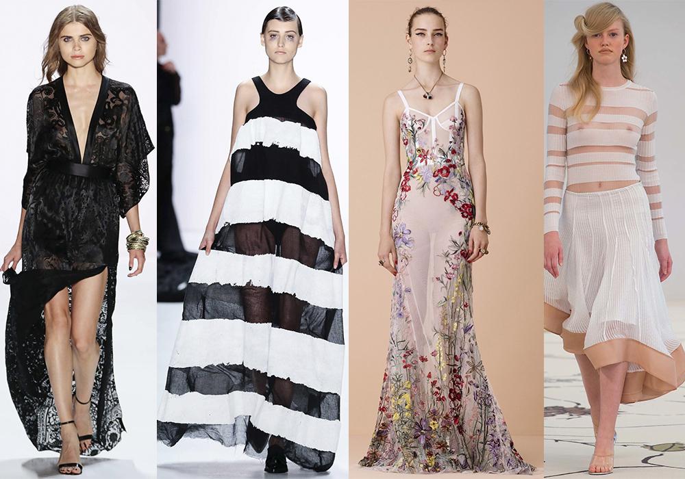 прозрачная ткань мода тренды весна 2016