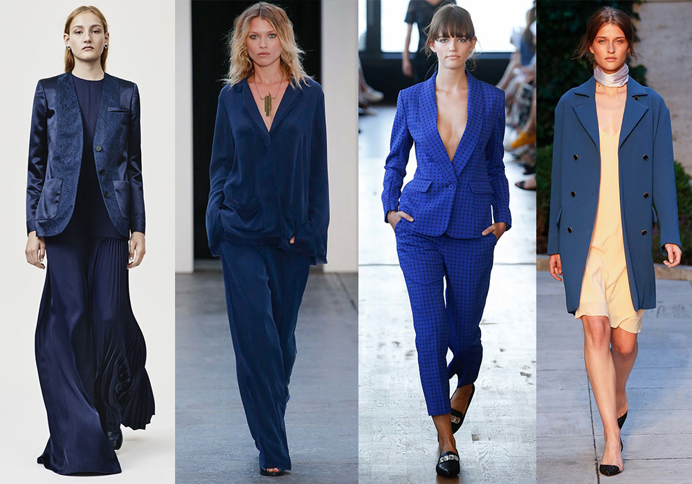 синий весна 2016 мода стиль