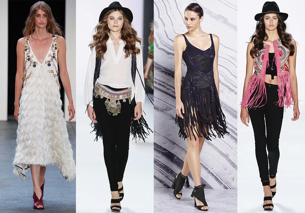 мода весна 2016 бахрома
