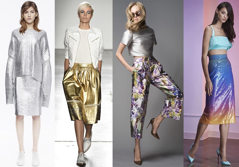 блестящие ткани мода 2016 весна тенденции