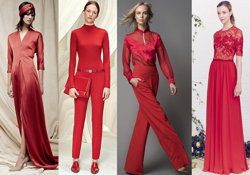 красный цвет мода весна 2016