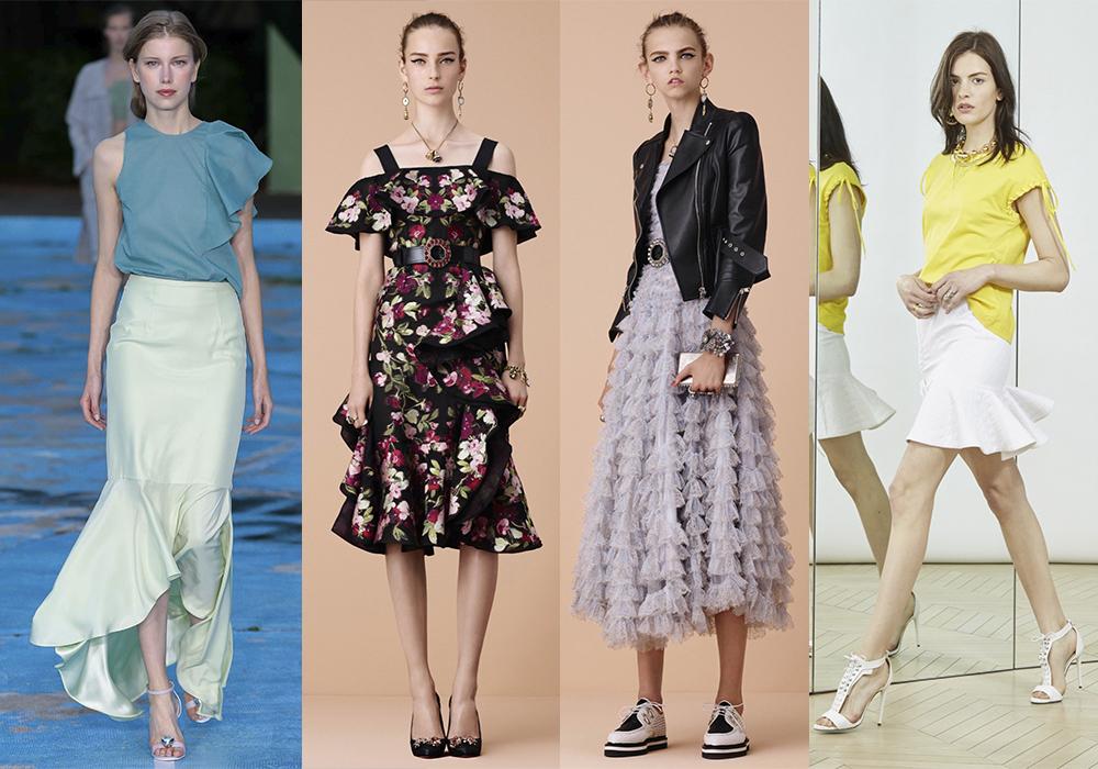 оборки воланы мода 2016 весна
