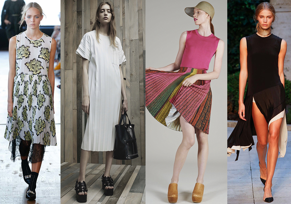 плиссировка мода 2016 весна