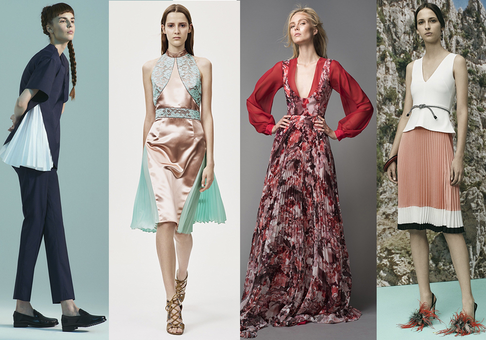 плиссе мода тренд весна 2016