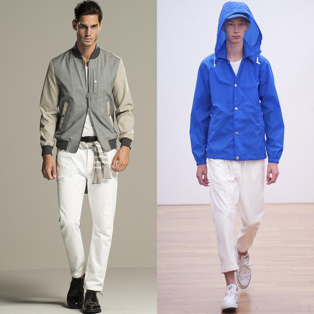 белые штаны мужские мода