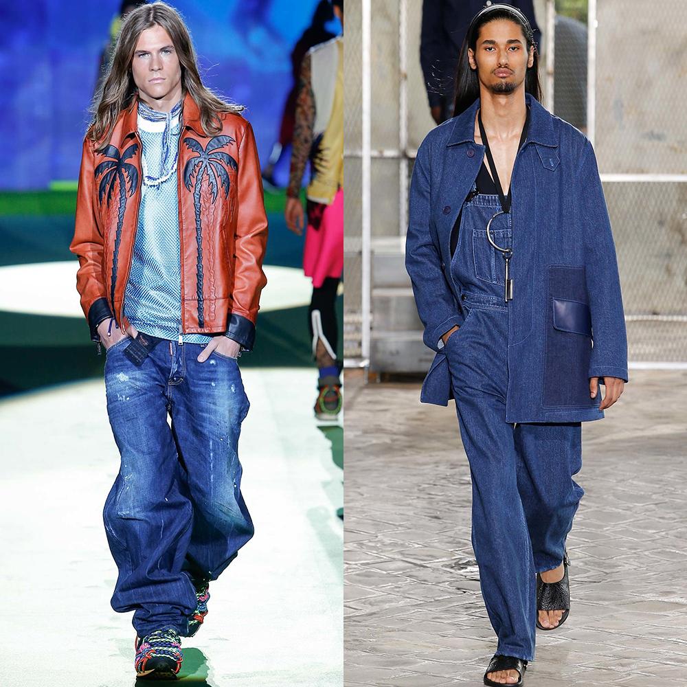 мода джинса мужчины 2016
