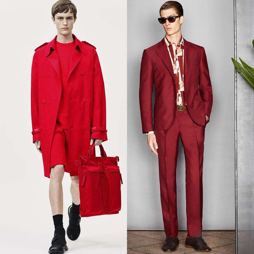тренды цвета мужская мода