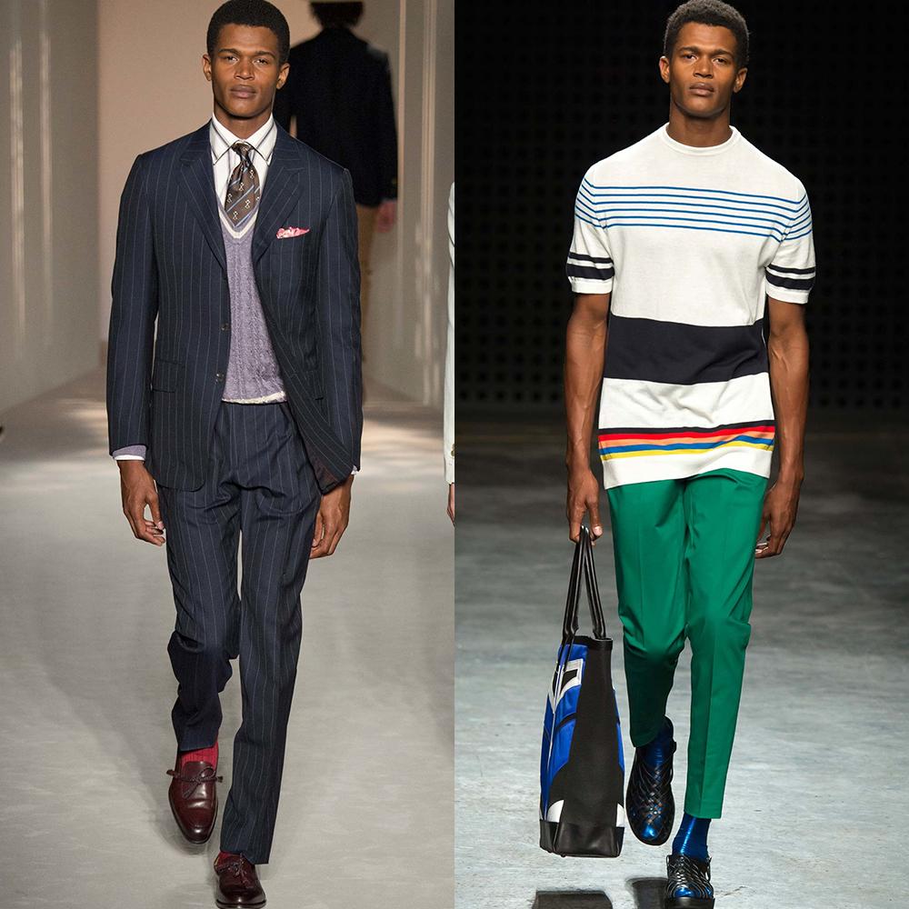 полоска принт мужская мода