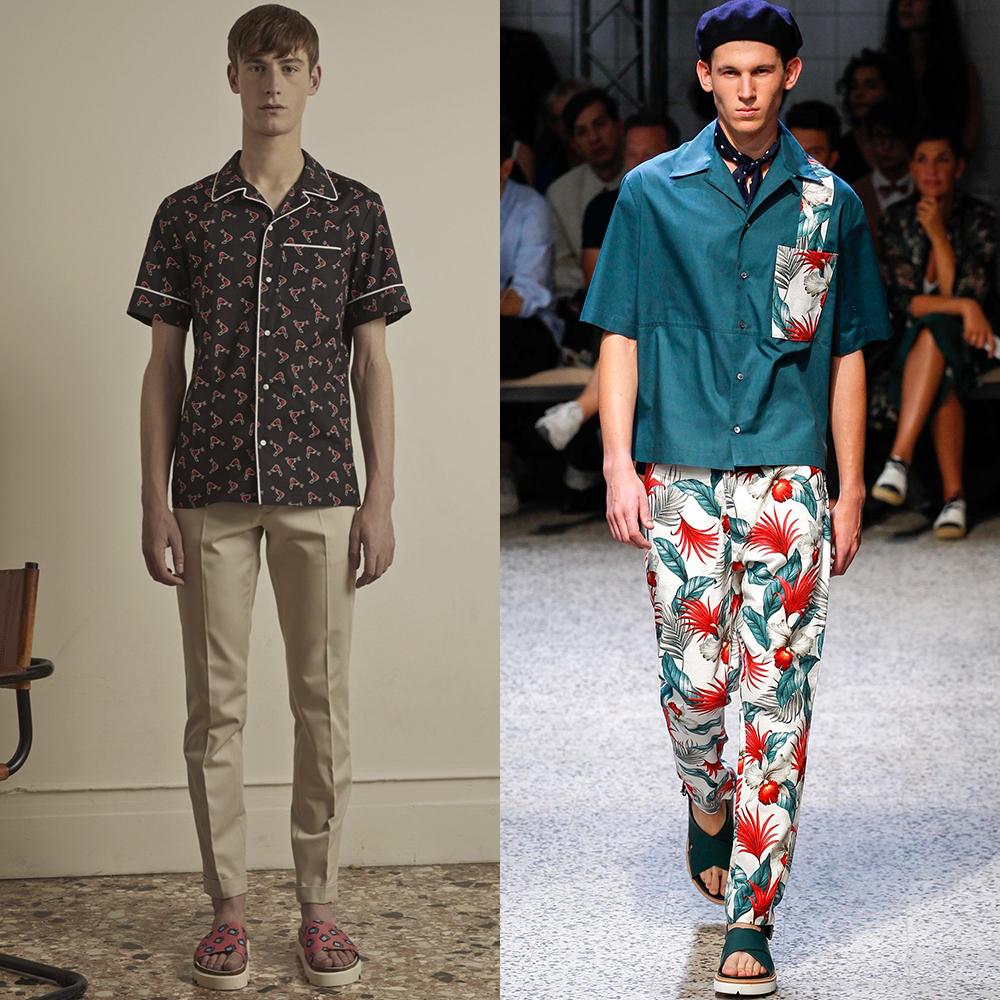 мужская мода рубашки весна лето