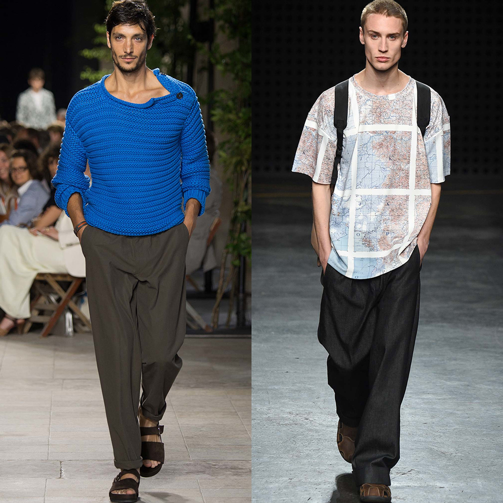 широкие штаны мужская мода