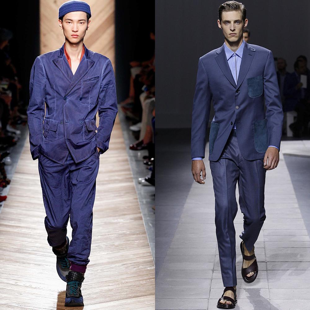 синий цвет мужская мода