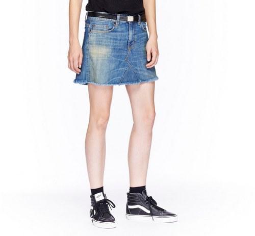 модные джинсовые юбки 2016