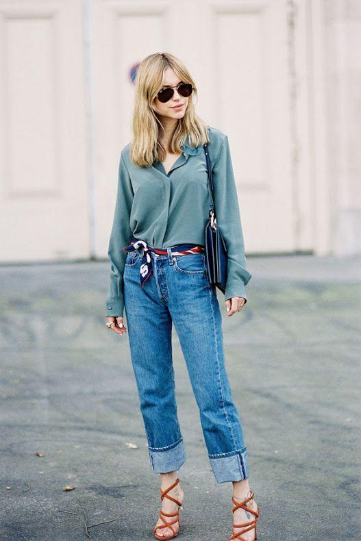 Идеи образов с джинсами бойфрендами