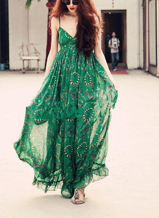 Летние образы с шифоновым платьем