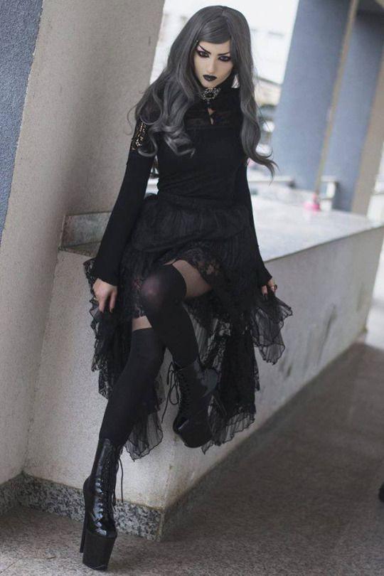 Готичный стиль в одежде примеры фото