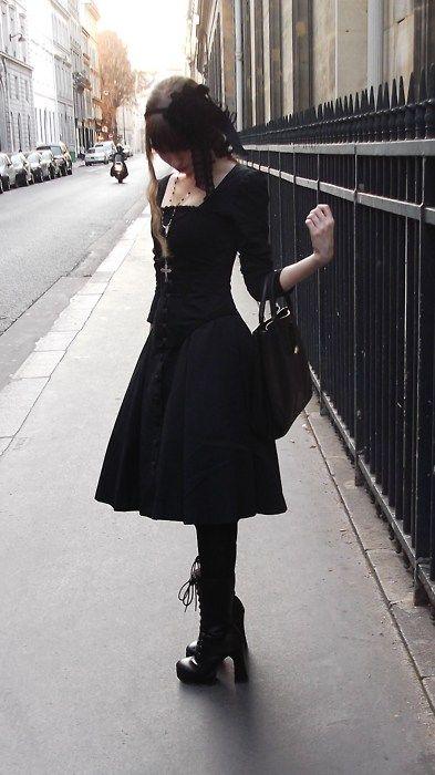 Готический стиль одежды фото