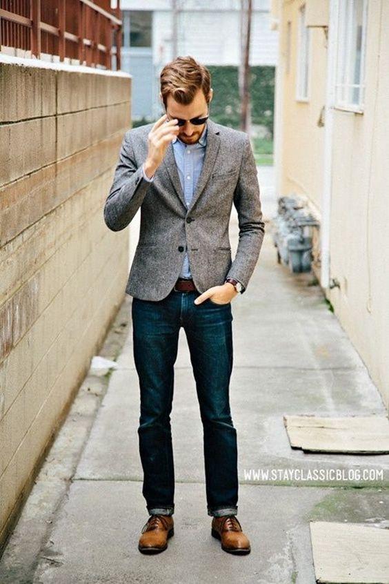 C чем носить блейзер мужчине