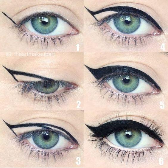 Как нарисовать красивые стрелки кошачий макияж