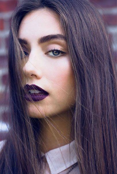 Макияж с темной помадой 2016 2017 модный